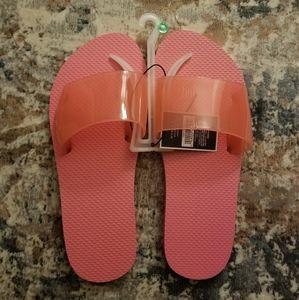 Pink Clear Slide Sandals